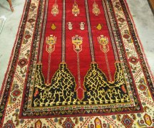Wool on wool Hand knotted Turkish carpet from Taspinar. Approximately 60 years old
