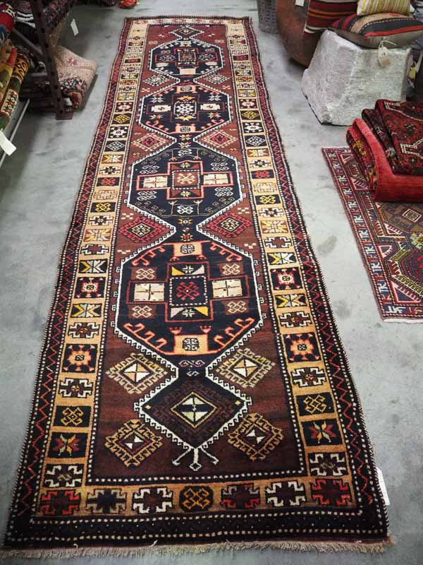 Wool on wool double knotted hand made Turkish Runner from Malatyer, Approximately 60 - 70 years old