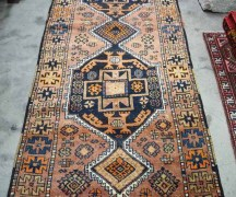 Kurdish Malatyer Hand knotted Turkish wool one wool runner. Approximately 80 years old