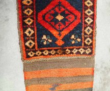 Wool on wool hand knotted weaving Kurdish. Approximately 75 years old