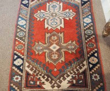 Hand made double knotted Turkish wool on wool carpet from Taspinar. Approximately 60 years old