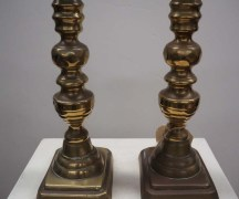 Pair 19th Century Brass CandleSticks