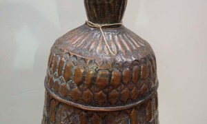 Antique metal ottoman turkish vase/candlestick