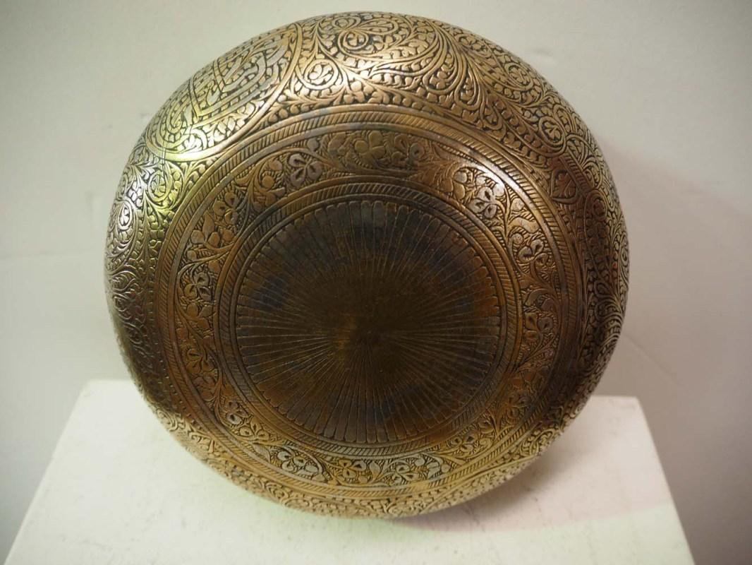 Ottoman period hamam engraved bowl