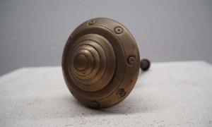 Ottoman Period mid 19th century bronze 'Turban Shaped' Front Door knob