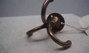 Late 19th century brass triple hook