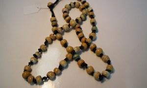 Turkish ceramic bead necklace