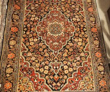Finely knotted wool on cottom carpet from Persia, Approximately 40 years old