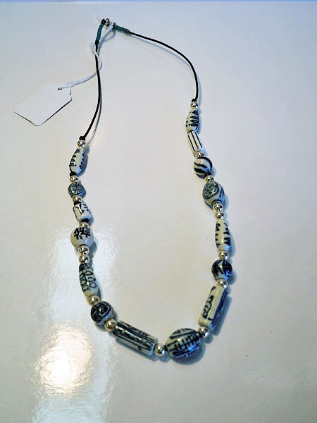 Chinese Porcelain K'ang Hsi beads & silver