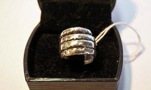 Western Indian silver 19th century tribal ring