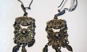 Turkoman Silver Earrings