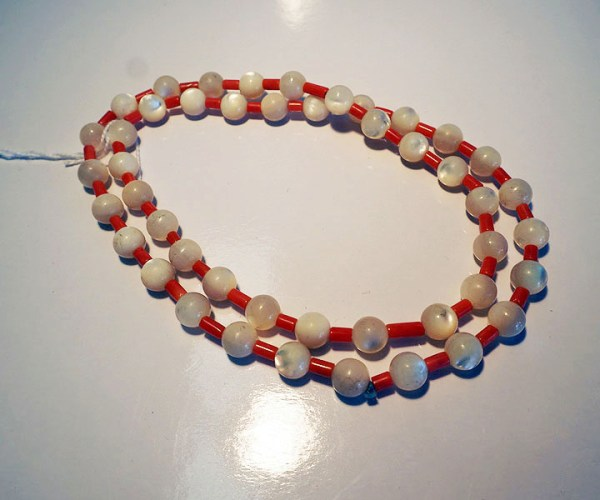 Tibetan Mother of Pearl & Coral Necklace