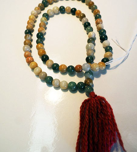 "Antique Burmese Buddhist jade ""rosary "" Necklace"