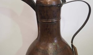 Antique Copper metal homeware coffee pot