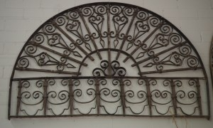 19th century Ottoman arched, wrought iron Grille