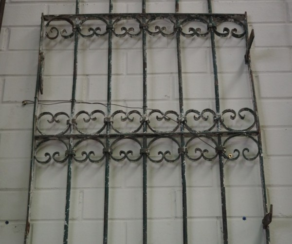 Antique Ottoman period wrought iron grille