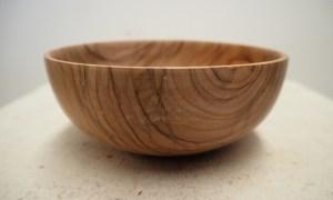 Hand turned olive wood bowl from Ayvalik