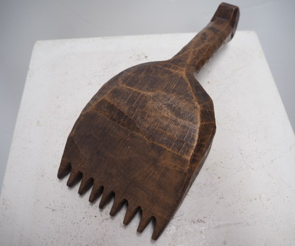 Antique wooden Ottoman period wooden carpet making tool (Pile Tamper)