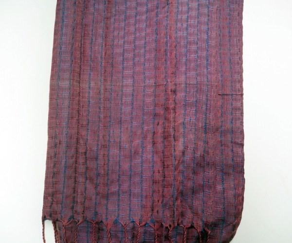 Turkish hand loomed silk scarf