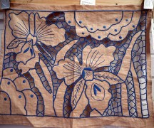 Art Deco Cloth c.1930 Fabulous hand embroidery