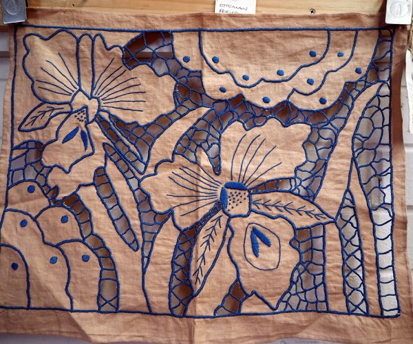 Art Deco Cloth c.1930 Fabulous hand embroidery