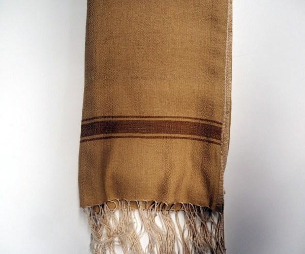 Hand loomed Syrian cotton scarf/Shawl