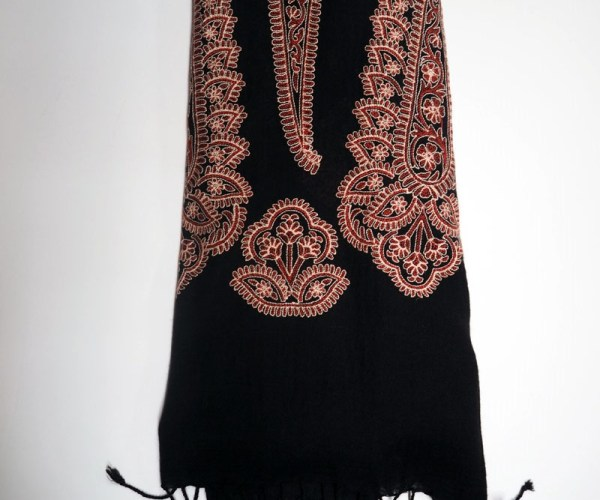 Kashmirir silk on wool Turkish Scarf