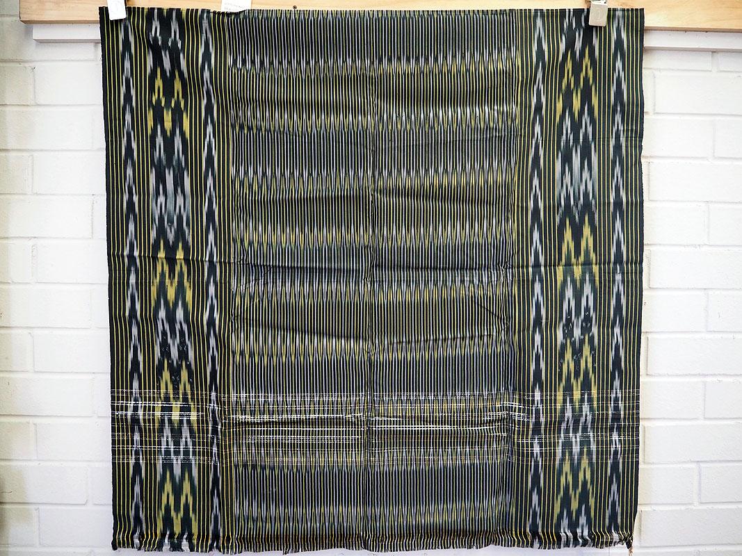 Central Asian artificial silk Ikat cloth