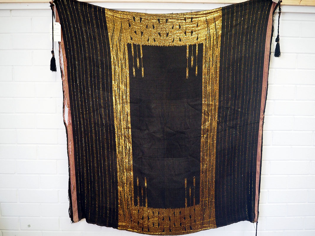 Silk & Gold thread table cover, early 20th century