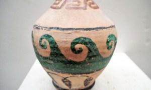 Ionian painted terracotta vase, 19th century