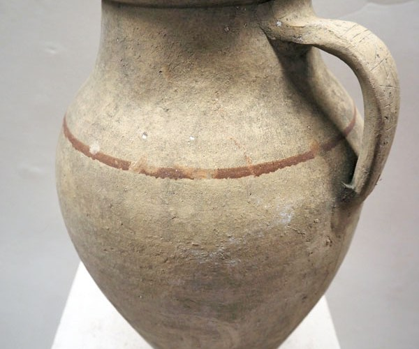 Ottoman Period glazed terracotta pot from Cannakale