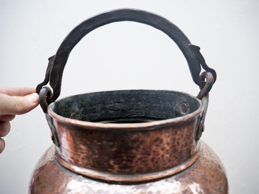 Ottoman period 19th century Copper bucket