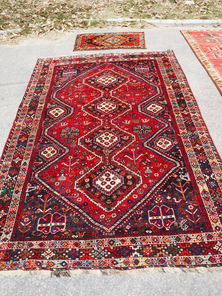 Hand knotted wool on wool Persian, Shiraz, approximately 50 years old