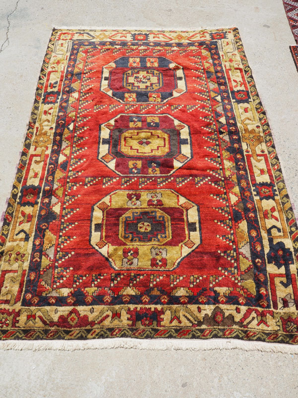Hand made wool on wool Konya Karancu, approximately 70 years old