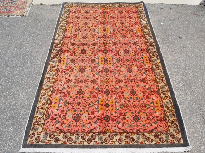 Hand made double knotted wool on cotton Turkish carpet from Cappadocci Urgup, approximately 60 years old