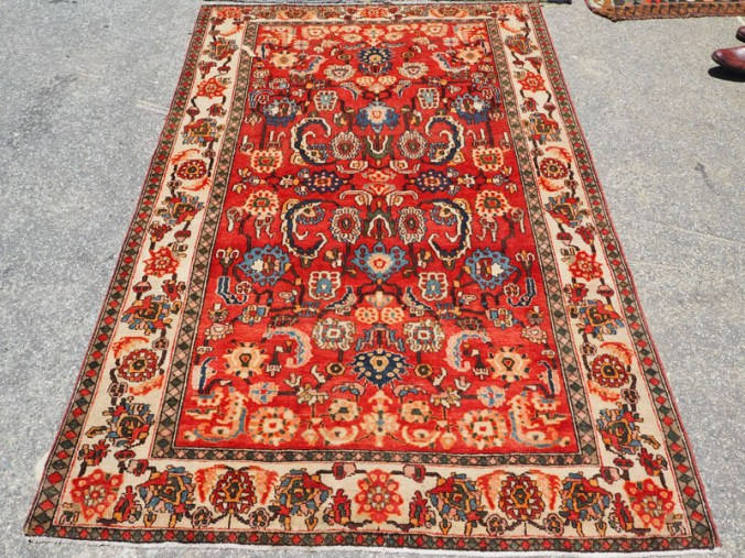 Hand knotted wool on cotton Persian carpet from Feraghan, Sarouk, approximately 60 years old