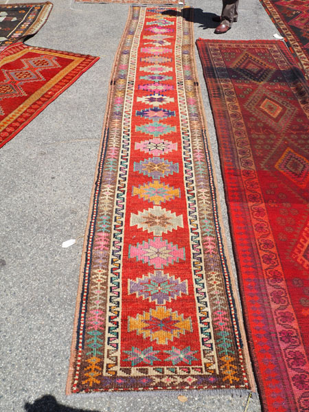 Hand knotted wool on wool Iraqi Kurdish Herki runner, approximately 40 - 50 years old