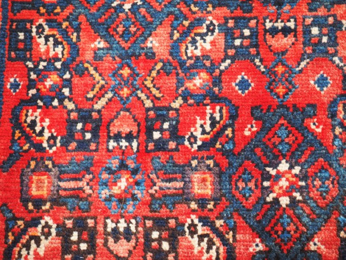 Hand knotted wool on cotton Persian Runner from Husseinabad ( near Hamadan), approximately 60 years old