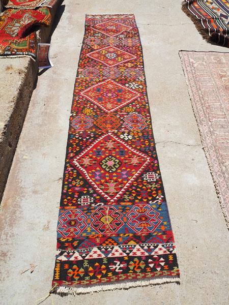 Hand woven wool on wool Iraqi Kurdish Herki Runner, approximately 50 years old
