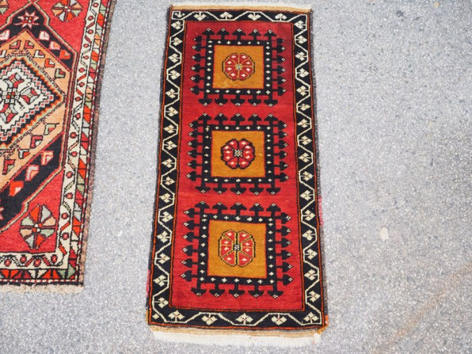 Double knotted hand made wool on wool Turkish carpet from Konya, approximately 40 - 60 years old