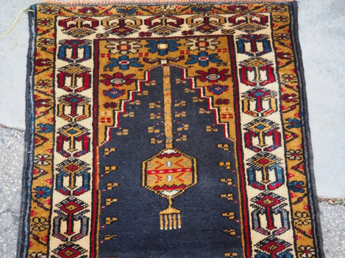 Double knotted hand made wool on wool Turkish carpet from Yahyali Zille, approximately 20 - 30 years old