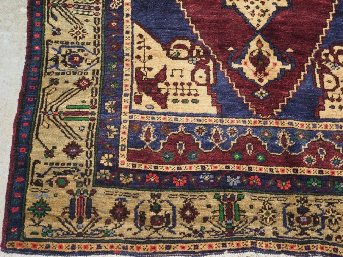 Double knotted hand made wool on wool Turkish Taspinar, approximately 60 years old