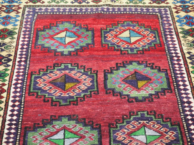 Double knotted hand made wool on wool Armenian carpet, approximately 50 years old