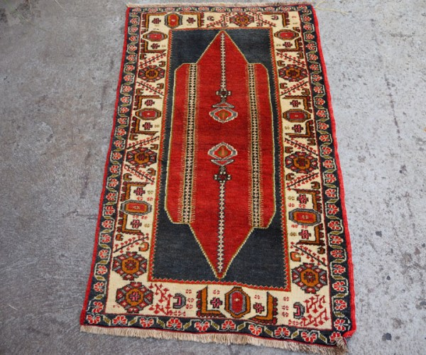 Double knotted hand made wool on wool Turkish carpet from Toros, approximately 70 years old