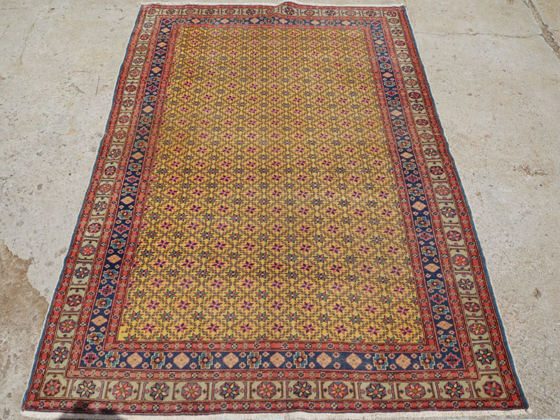 Double knotted hand made wool on cotton Turkish carpet from Kayseri, approximately 90 - 100 years old