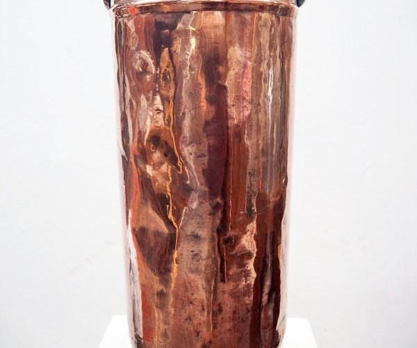 Ottoman period Copper ice-cream bucket c.1900