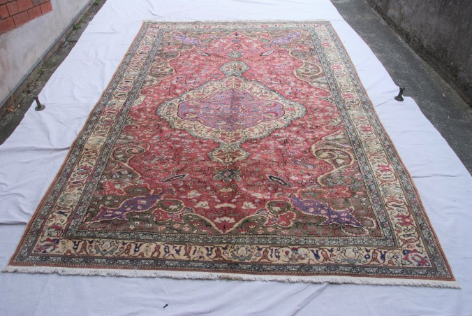 T826 Turkish Kayseri hand double knotted wool on cotton carpet approximately 70 years old 3.07 x 1.95 $2,285.00