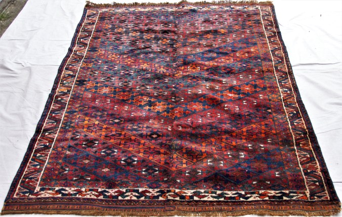 T858 Kurdish Avshar hand knotted wool on wool carpet approximately 70 years old 1.93 x 1.40 $1,195.00