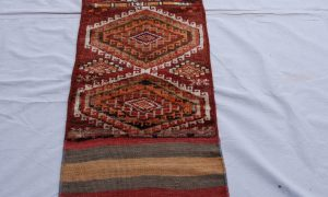 Hand knotted & woven wool on wool Besich runner from Northern Iran 50-60 years old 2.23 x 0.48 $475
