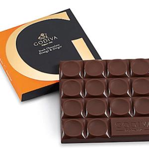Otto's Granary G by Godiva Chocolate Orange & Ginger Bar, 68% Cocoa, 2.8 oz.
